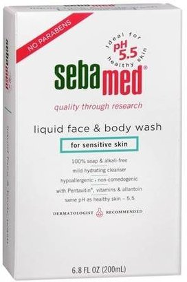 Sebamed Liquid Face and Body Wash 6.8 OZ.