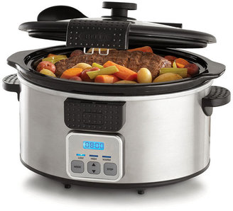 B.ella 13722 6-Qt. Portable Stainless Steel Programmable Slow Cooker