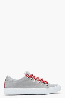 DIEMME Grey Suede Marostica Low-Top Sneakers
