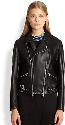 3.1 Phillip Lim Double-Zip Leather Biker Jacket