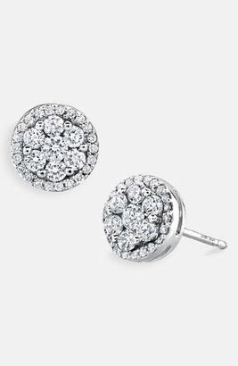 Nordstrom Bony Levy Flower Button Diamond Earrings Exclusive)