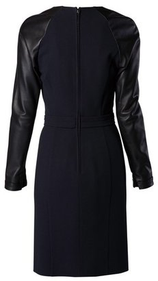 Viktor & Rolf Black Dress with Leather Sleeves
