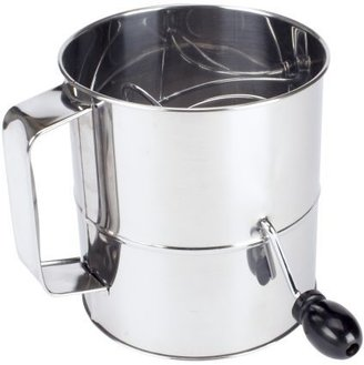Sur La Table Stainless Steel Crank-Handle Sifter