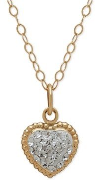 Macy's Children's 14k Gold Necklace, Crystal Heart Pendant