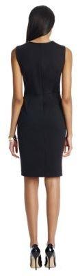 Jones New York Collection JONES NEW YORK Sheath Dress with Faux Leather Trim