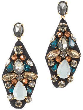 J.Crew Embroidered jewel earrings