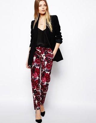 Asos Pants In Bold Floral Print - Multi