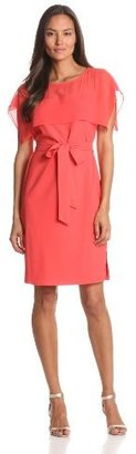 Vince Camuto Women's Shift Dress With Square Drape