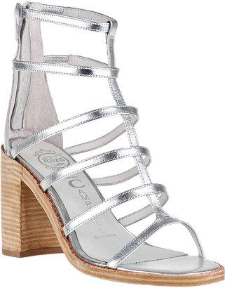 Jeffrey Campbell Encase Gladiator Sandal Silver Leather