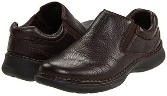 Hush Puppies Lunar II (Black Leather) Men's Slip on Shoes