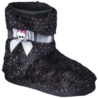 Girl's Monster High Bootie Slipper - Black
