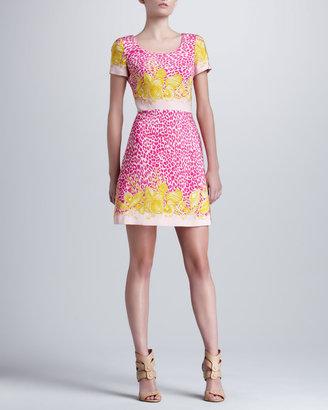 Versace Printed Short-Sleeve Dress