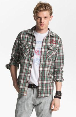 True Religion Brand Jeans 'Service' Plaid Flannel Shirt