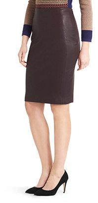 Diane von Furstenberg Panel Marta Stretch Leather Pencil Skirt