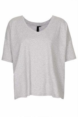 Topshop Boutique. 100% cotton. 100% cotton. machine washable. Premium grey wide cotton tee