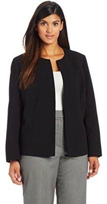 Kasper Women's Plus Size Crepe Flyaway Suit Jacket