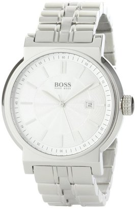 HUGO BOSS Men's 1512237 HB180 Silver Dial Stainless-Steel Bracelet Watch