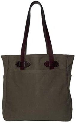 Filson Tote Bag W/Out Zipper (Otter Green1) Tote Handbags