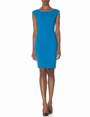 The Limited Neck Pleat Sheath Dress