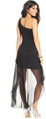 Ruby Rox Juniors' One-Shoulder Asymmetrical Dress