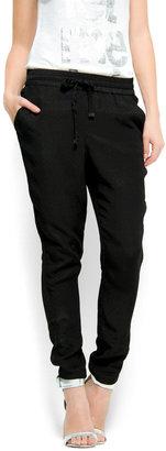 MANGO Shiny effect baggy pants