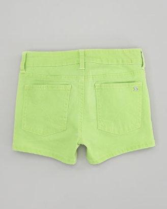 Joe's Jeans Neon Green Glow Stretch Denim Shorts, Sizes 2-6