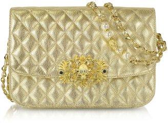 Philipp Plein Exclusive - Golden Leather Shoulder Bag