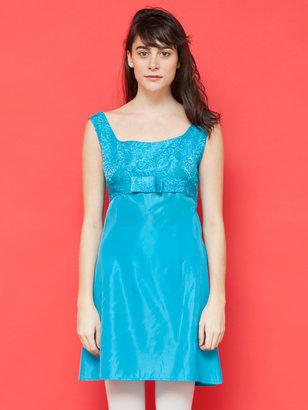 American Apparel Vintage Brocade Empire Waist Mini Dress