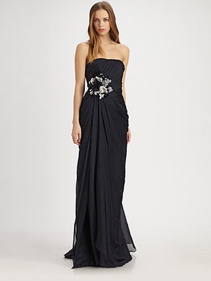 Theia Silk Flower Gown