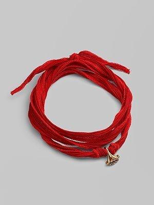 Catherine Michiels Bronze & Silk Lily Charm Bracelet