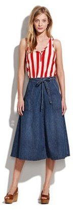 Madewell Denim wrap skirt