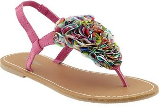 Old Navy Girls Chiffon-Rosette Sandals