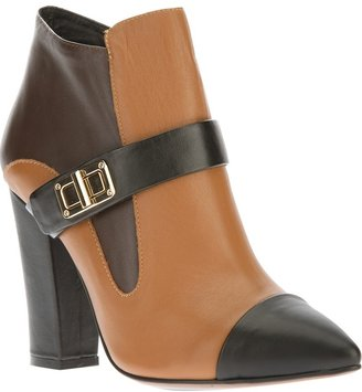 Lola Cruz pointed toe ankle boot