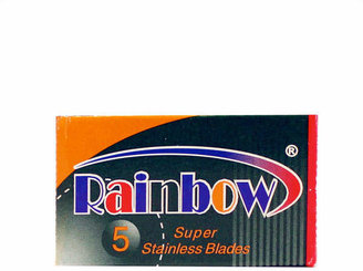 Rainbow Stainless Double Edge Blades by 5 Blades)