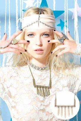 Vanessa Mooney Labyrinth Necklace in Brass