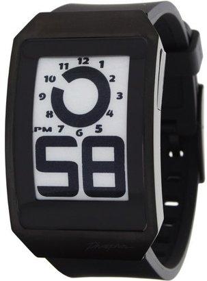 Phosphor Unisex DH04 Digital Hour E-INK Curved Black Ion-Plated Polyurethane Band Watch