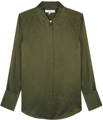 Frame Perfect Army Green Silk Shirt
