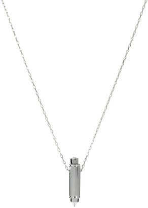 Maria Francesca Pepe Bullet Pendant Necklace With Swarovski Crystal And Studs
