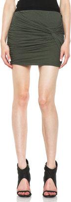 IRO Rayan Twist Skirt in Khaki