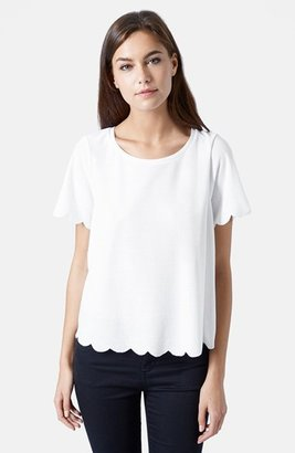 Women's Topshop Scallop Frill Tee $25 thestylecure.com