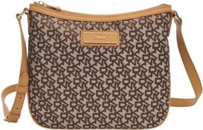 DKNY Cross body Canvas and leather bag