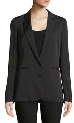 Theory Grinson Notch Lapel Silk Jacket