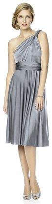 Dessy Collection - MJ-TWIST1 Dress in Platinum