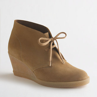 J.Crew Factory Factory suede lace-up wedge boots