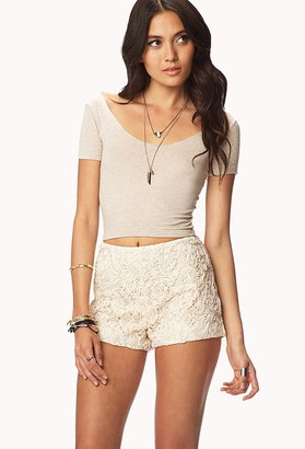 Forever 21 Beaded Lace Shorts