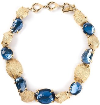 Yves Saint Laurent Pre Owned 1980's Crystal Embellished Necklace
