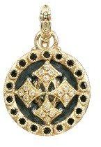 Armenta Round Heraldry Shield Enhancer with Diamonds