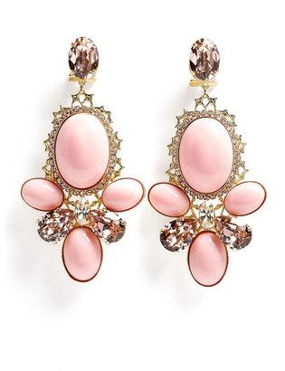 Anton Heunis Pink Triple Cabouchon Cluster Earring
