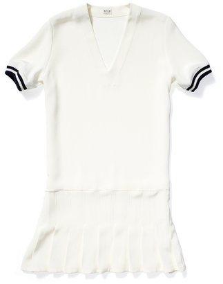 Kule Penelope Silk Pleated Dress