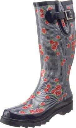 Chooka Women's Dotty Flowers Rain Boot